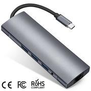 Type-C HUB 9in1 USB-C 3.1 to 4K HDMI USB3.0 Thunderbolt 3 SD/TF 3.5mm